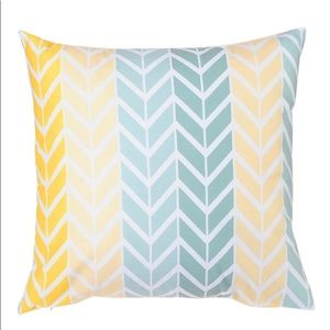 Chevron Pattern Yellow and Blue Pillow Case